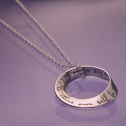 To thine own self be true mobius necklace mozeypictures Image collections
