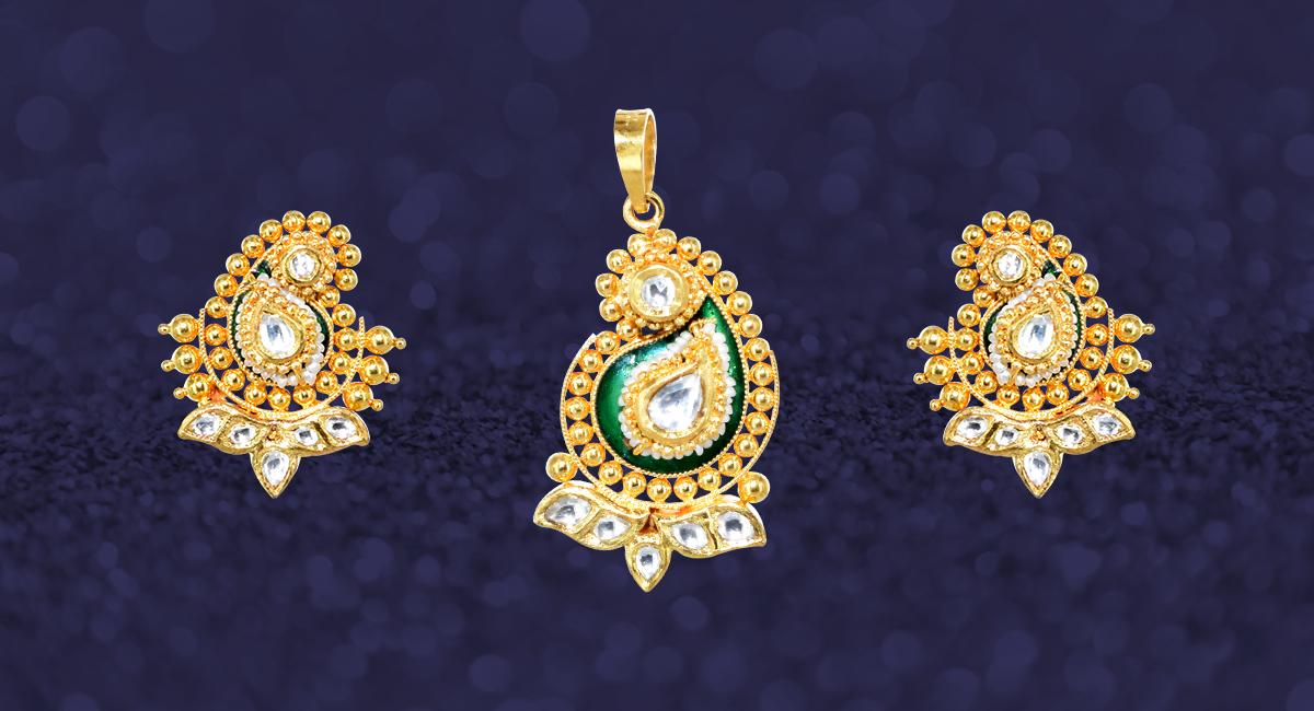 22k gold pendant set aloadofball Images