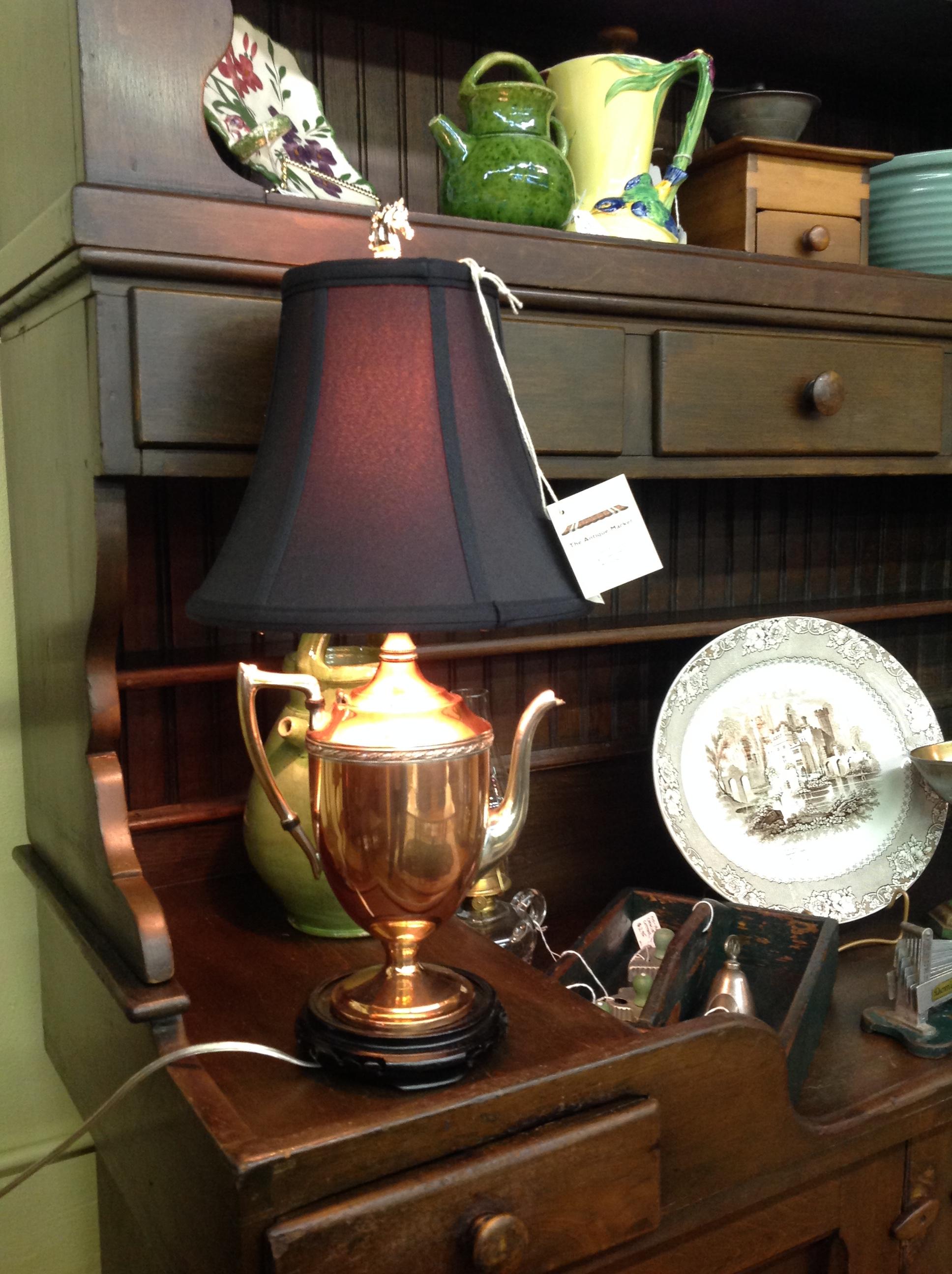 Copper Teapot Lamp